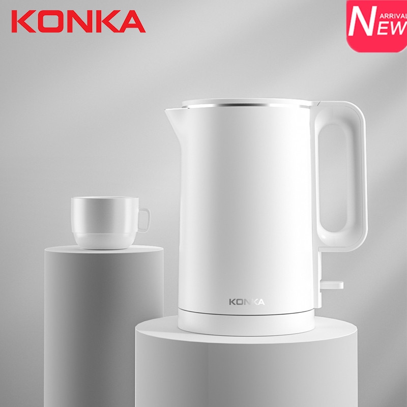 KONKA 1.7 L Electric Kettle Fast Boiling Household Stainless Steel Smart Instant Heating Electric Water Kettle Auto Power-Off