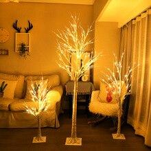 Серебряная лампа в форме березы светодиодный светильник на рождественскую елку fang zhen shu deng номер спальня декоративные огни открытый пейзаж рождественские огни