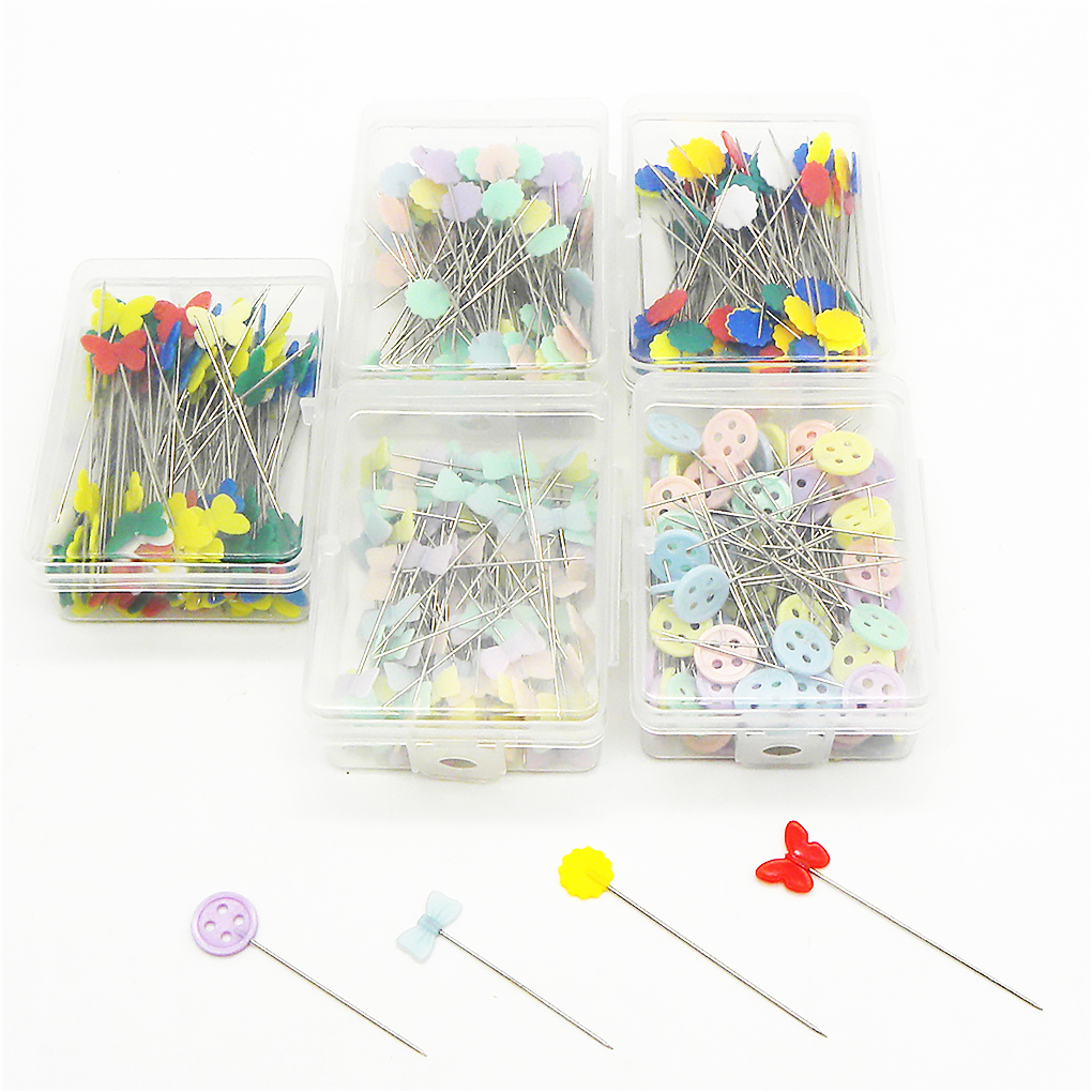 100/250Pcs Stainless Steel Dressmaking Pins Embroidery Patchwork Pins Accessories Tools Sewing Marker Needle DIY Sewing Tool-3