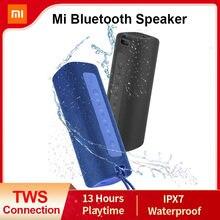 Original xiaomi mi portátil bluetooth alto-falante ao ar livre 16w tws conexão de alta qualidade som ipx7 à prova dwaterproof água 13 horas playtime