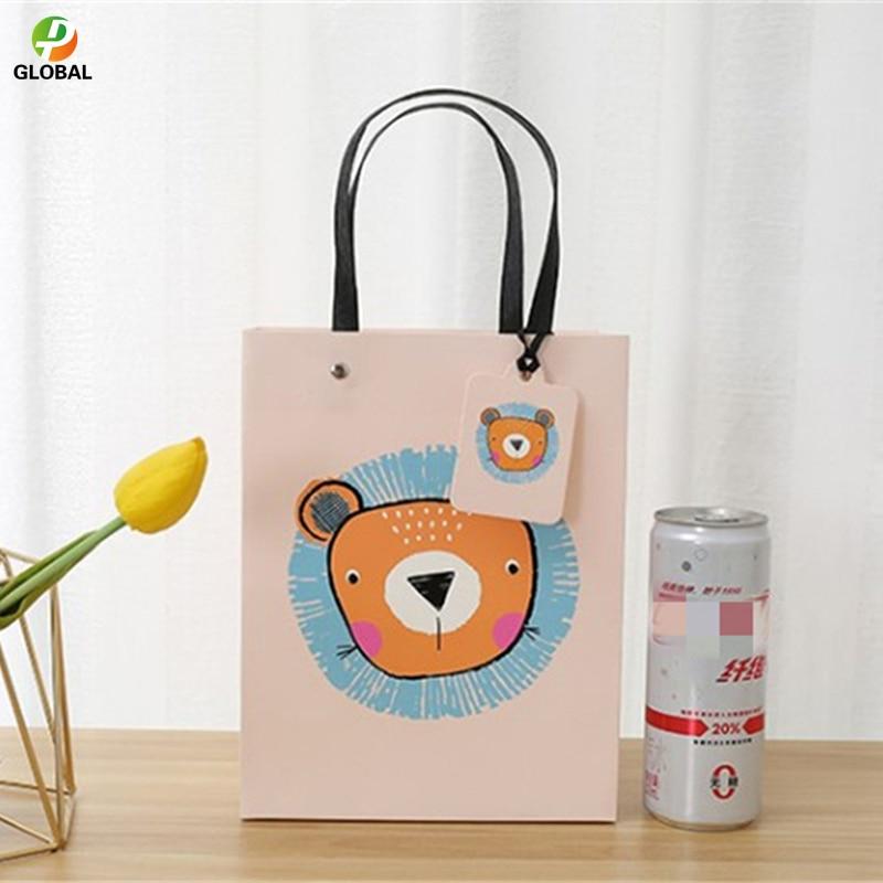 D & P 50pcs papier sac main cadeau sac mariage cadeau sac fête d'anniversaire papier sac fourre-tout peut être Customiz 18*23*10 cm/26*32*12.7 cm - 4