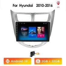Android 10 2din HD dokunmatik ekran çok fonksiyonlu otomatik araba navigasyon ünitesi Hyundai Solaris/Accent/Verna destek WIFI 4G