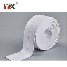 Yx 1 rolo de fita adesiva impermeável, molde durável para uso em pvc, material de cozinha, banheiro, fita de vedação de parede, utensílios 3.2m