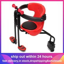 Baby-Seat Bike Bicycle Kids Child for Front-Seat-Saddle-Cushion with Back-Rest Foot-Pedals