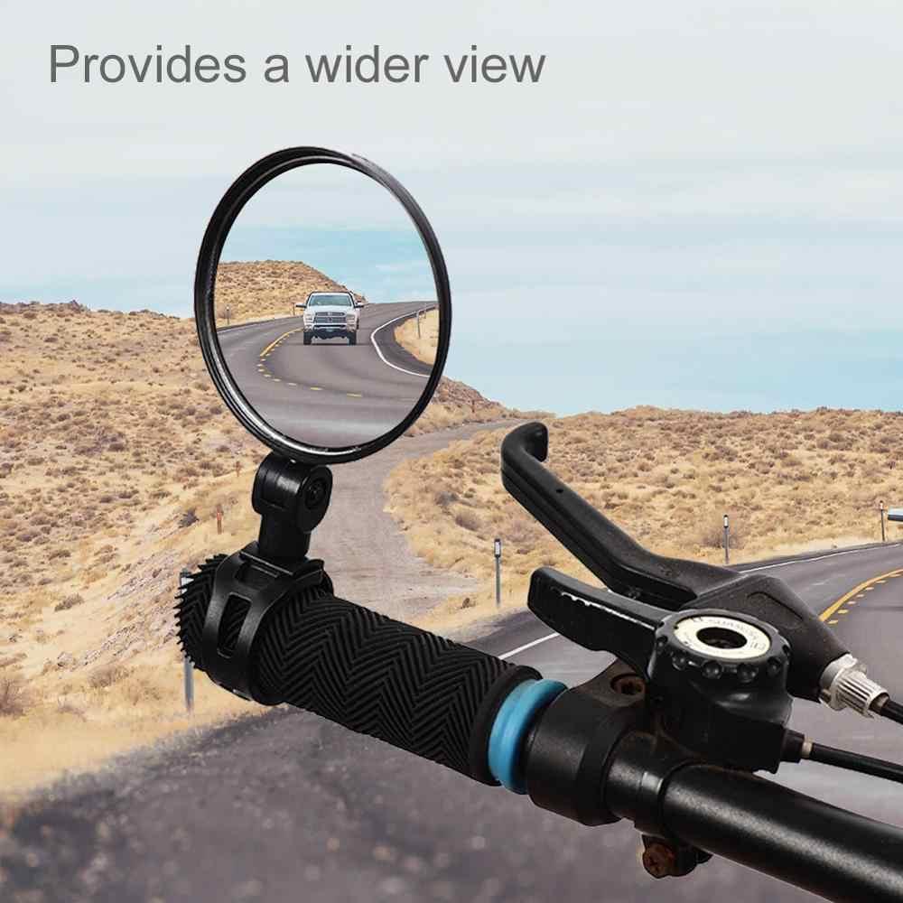 Bike Mirror Adjustable Bicycle Rearview Handlebar Wide-Angle Convex Mirror
