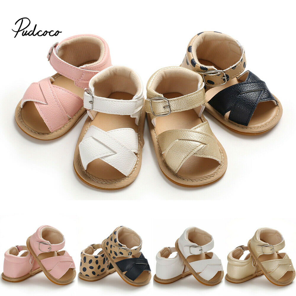 Newest Summer Kids Shoes 2020 Fashion PU Leather Sweet Children Sandals For Girls Toddler Baby Breathable Hollow Out Shoes 0-18M