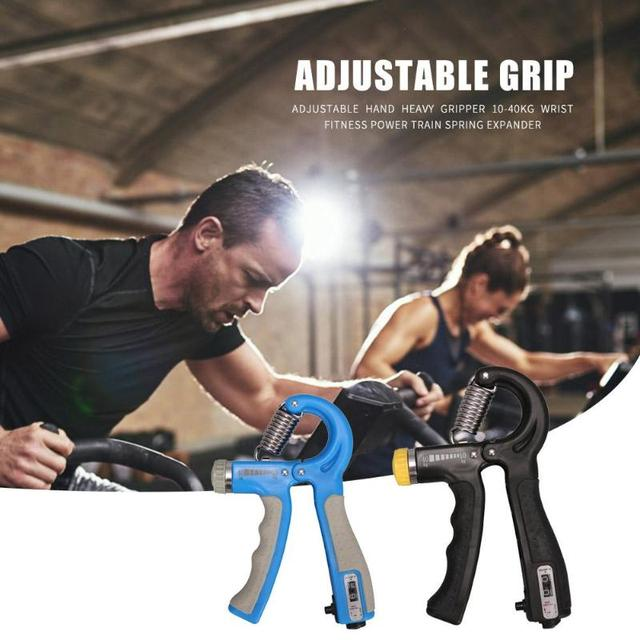 10-40kg Adjustable Heavy Gripper Hand Grip Strengthener Gym Power Fitness Exerciser Wrist Strength Training Spring Expander 5