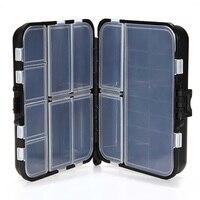 Caja de almacenamiento negra con 26 compartimentos, aparejos de pesca, cuchara de cebo de pesca, anzuelo, aparejos, accesorios de pesca