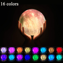 New Dropship 3D Print Moon Lamp Colorful Change Touch Usb Led Night Light Home Decor Creative Gift 16 colors dropship 3d print moon lamp 20cm 18cm 15cm colorful change touch usb led night light home decor creative gift