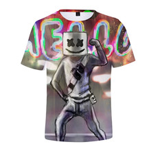Hip Hop DJ marshmellow Heavy metal Rock hombres Camisetas nubes Impresión digital Unisex verano moda camiseta Tops 4XL(China)