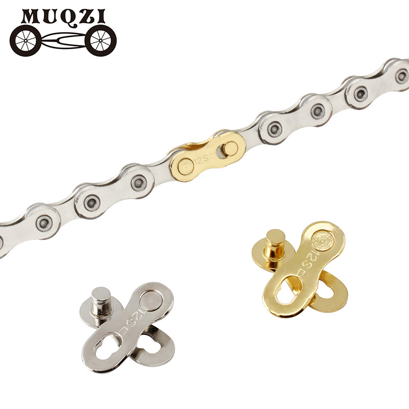 MUQZI <font><b>12</b></font> speed <font><b>Chain</b></font> magic Buckle bicycle Quick release buckle Mountain road folding bicycle Connector Accessories image