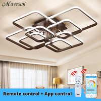 Acrylique plafonniers carrés anneaux pour salon chambre maison AC85-265V plafond moderne à LEDs luminaires lustre plafonnier
