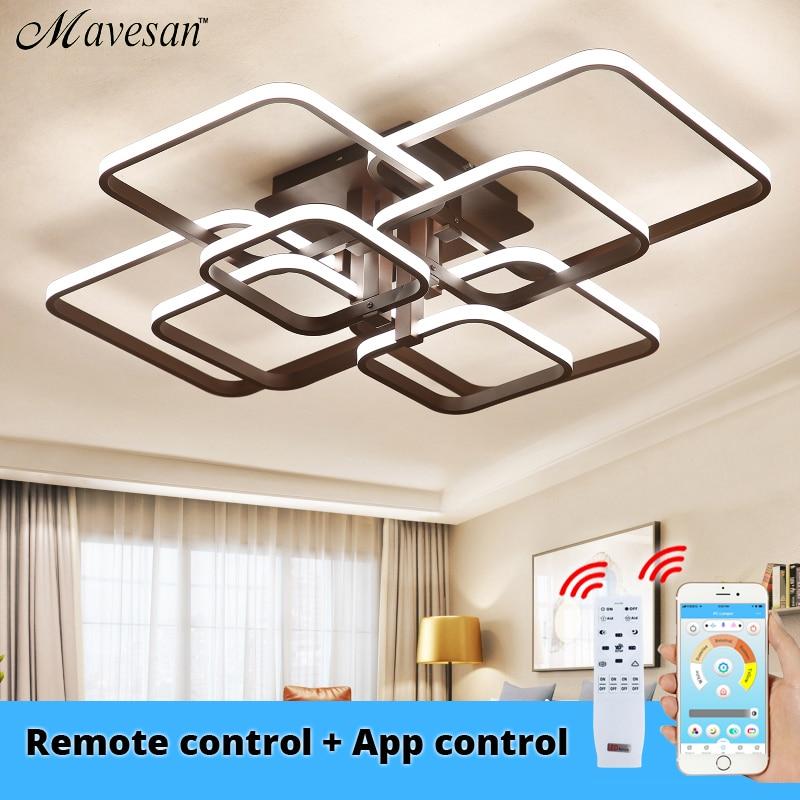Acylic Ceiling Lights Square Rings For Living Room Bedroom Home AC85 265V Modern Led Ceiling Lamp Innrech Market.com