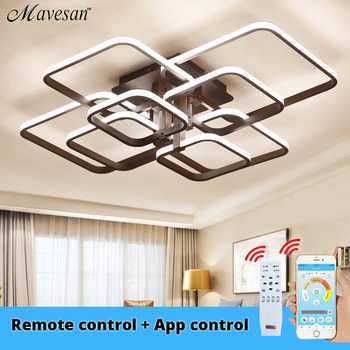 Acylic Ceiling Lights Square Rings For Living Room Bedroom Home AC85-265V Modern Led Ceiling Lamp Fixtures lustre plafonnier - DISCOUNT ITEM  72% OFF All Category
