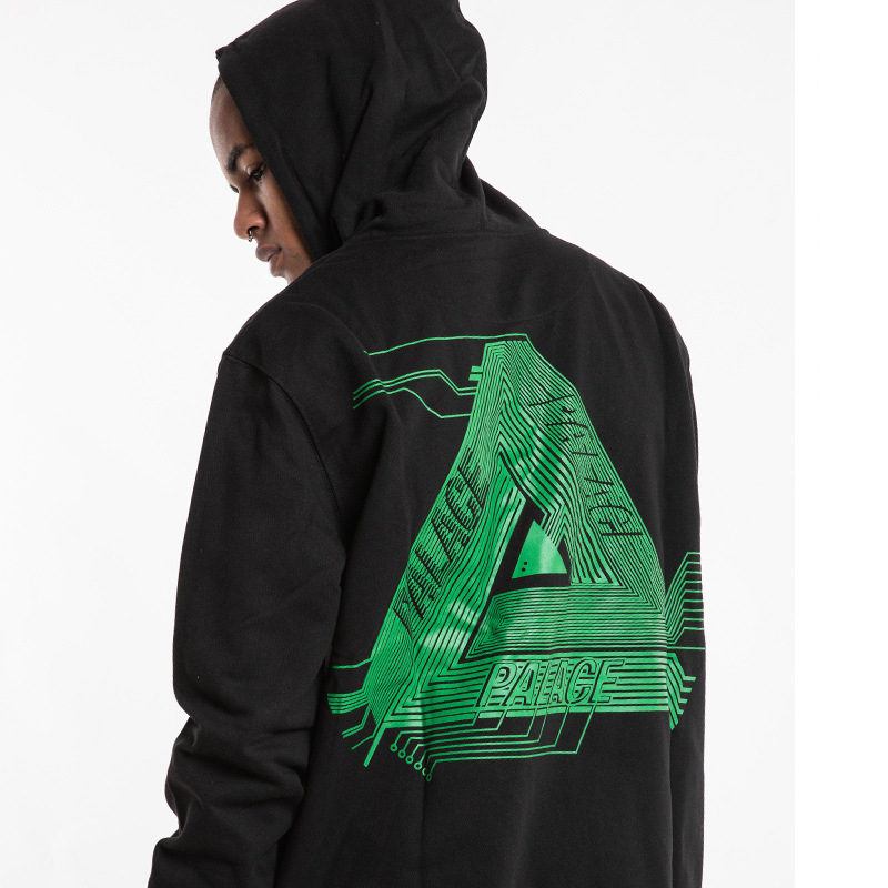 Palace Life 2018 Europe And America Popular Brand Autumn And Winter Men'S Wear Circuit Board Triangular Printed Hooded MEN'S Swe