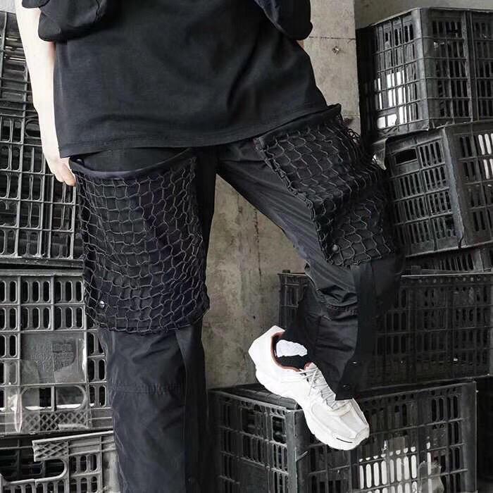 Un mur froid ACW 1:1 pantalons de survêtement hommes femmes Streetwear sangle de pied Harajuku pantalons de survêtement Joggers un mur froid Kanye West pantalon