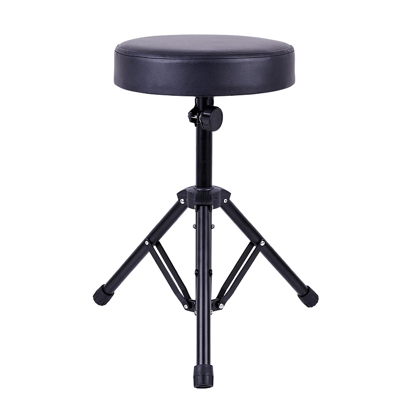 High Quality Piano Stool Round Chair For Electronic Drum Metal Piano Stool Keyboard Steel Lifting Stool Height Adjustable