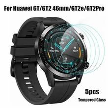 5Pcs סרט עבור Huawei שעון GT 2 פרו מזג זכוכית מסך מגיני 9H נגד שריטות מגן HD זכוכית סרטים עבור GT 2 46mm GT2e