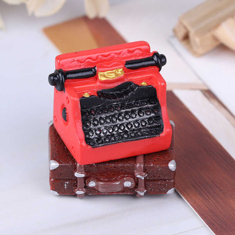 Hohe Qualität Stimulation Vintage Koffer Schreibmaschine Puppenhaus Miniatur Maßstab 1:12 Fee Puppe Hause Leben Szene Möbel Spielzeug