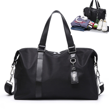 Hot Waterproof Nylon Travel Handbag Men Fashion Carry On Weekend Bags Vintage casual Duffel Shoulder women Oxford cloth
