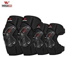 WOSAWE moto genou coude protecteur costume bretelles réglables antichoc confortable descente vélo course équipement de protection