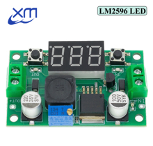 Cheap LM2596S LM2596 DC 4.0~40 to 1.3 37V Adjustable Step Down Power Module + LED Voltmeter DC DC module