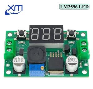 Image 1 - Módulo de alimentación reductor ajustable LM2596S LM2596 DC 4,0 ~ 40 a 1,3 37V + MÓDULO DE DC DC voltímetro LED, barato