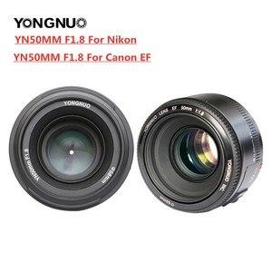 Объектив YONGNUO YN50mm F1.8 для камер Nikon, большая диафрагма, авто фокус, объектив для Nikon D800, D300, D700, D3200, D3300, D5100, D5200, D5300 DSLR