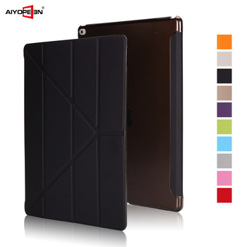 Case For iPad Pro 12.9 2017 Smart Cover For iPad Pro 12.9 inch 2016 Case Magnetic PU Leather Flip Cover For iPad 12.9 2015 labato smart case for ipad 9 7 inch 2017 case pu leather luxury quality magnet smart cover for ipad 5 6 9 7 2017 fold flip cover