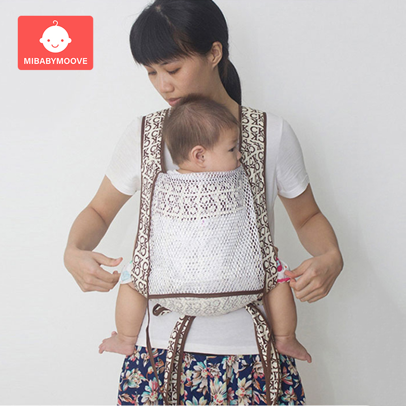 Ergonomic Baby Carrier Sling Breathable Infant Baby Carrier Wrap Front Facing Kangaroo Carrier For Baby Travel 3-36 Months
