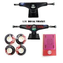 Королевский скейтборд Грузовики 5,25 скейт 52 мм скейтборд колеса и элемент защиты подъемные колодки Скейтбординг аксессуары