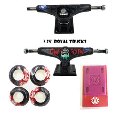 ROYAL Camion di Skateboard 5.25 Skate 52 millimetri di Skateboard Ruote e Elemento di Protezione Riser Pad Skateboard Accessori