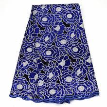 Кружевная Тюлевая ткань с блестками Африканское кружево высокой