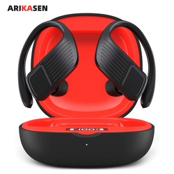 Arikasen TWS Bluetooth Earbuds 40 hours Bass True Wireless Stereo Earphones Sport Bluetooth Headphones Ear Hook IPX6 Waterproof