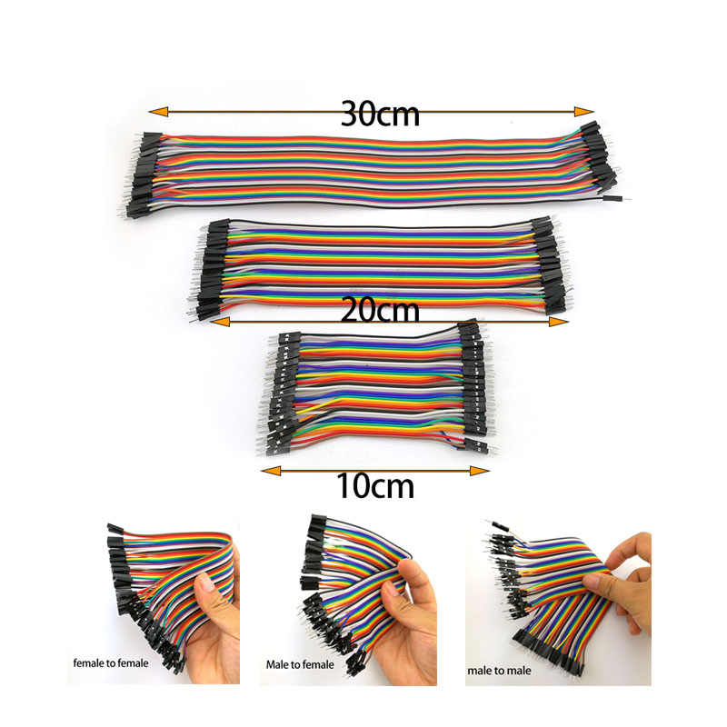 10cm 40pin Jumper Wire Eclectic Breadboard Cable Male to Male ...