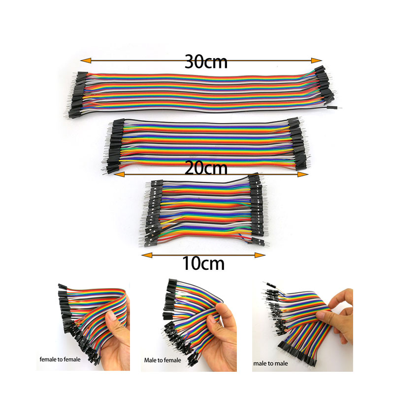10cm 40pin Jumper Wire Eclectic Breadboard Cable Male to Male Female to Female Pin Jumper Line Connector for Arduino DIY Kit