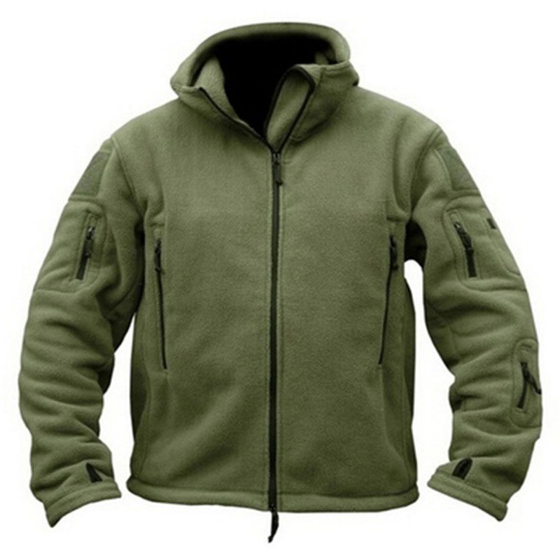 Winter Military Uniform Clothes Tactical Warm Solid Color Uniform Coat Camouflage Hooded Army Camo Clothing For Men