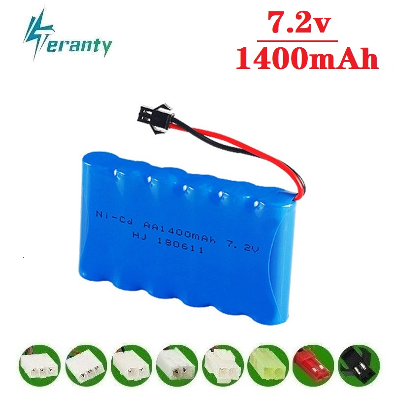 ( M Model ) 7.2v 1400mah NiCD Battery For Rc toys Car Tanks Trains Robot Boat Gun Ni CD AA 700mah 7.2v Rechargeable Battery 1Pcs|Replacement Batteries|   - title=