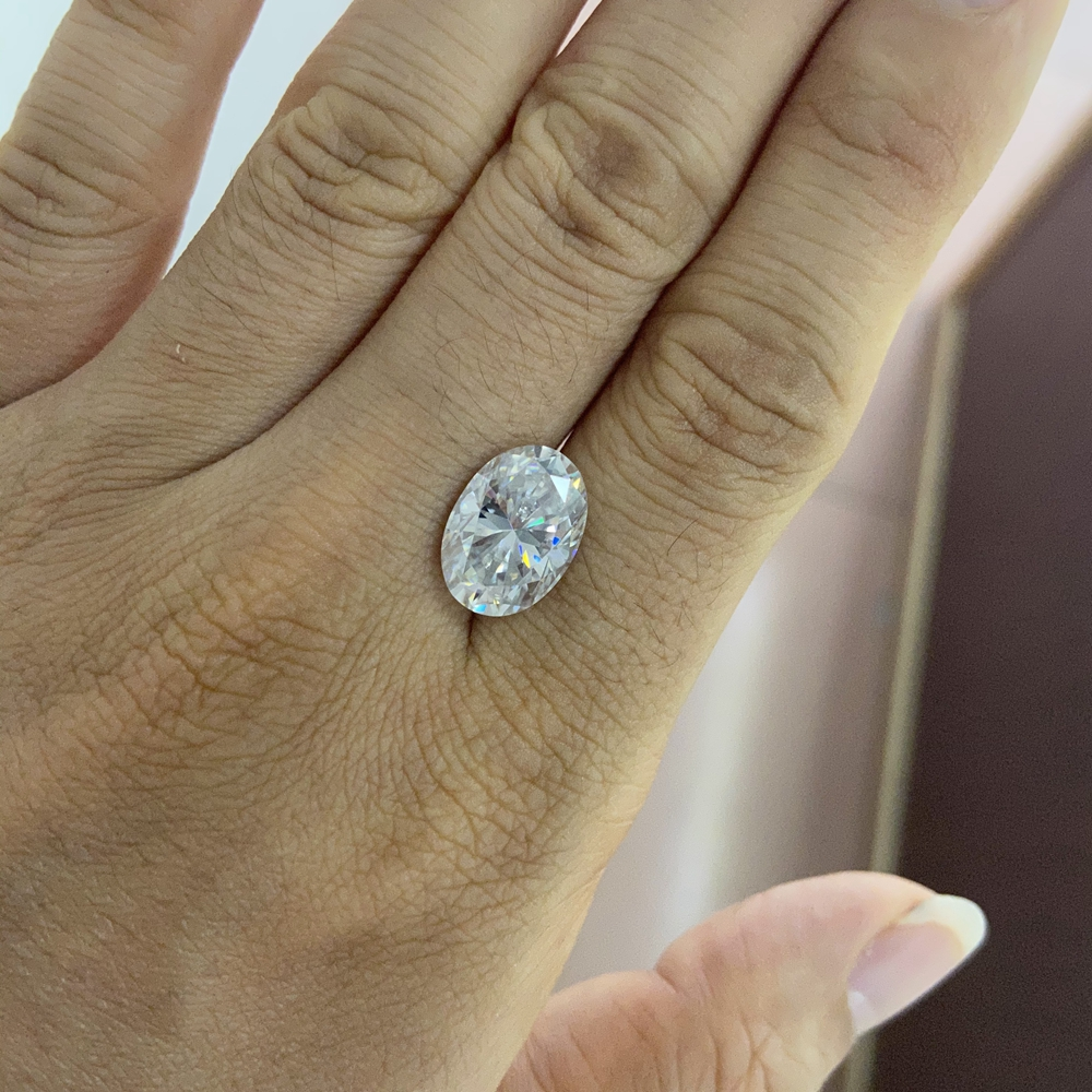 GRA certificate Grown moissanite diamond stone Oval 7x5  mm 1 ct  D color VVS loose moissanite stone for ring