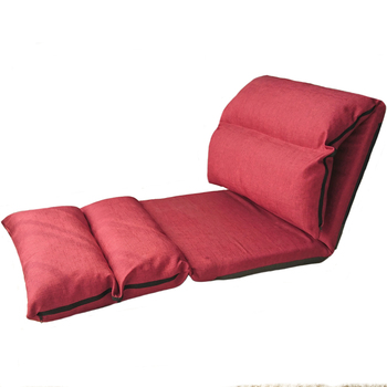 Creative lazy sofa single tatami long folding detachable washable bay window chair leisure back Japanese style fabric bed