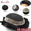 Francês laço masculino toupee durável mens hairpieces substituição do cabelo humano para homens D7-5 marrom loira cor preta