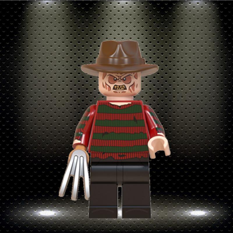 Ed Dale Bettlejuice Horror Halloween Einglys GURed Building Blocks Jack Zombie Minnie Bricks Figures Toys WM846