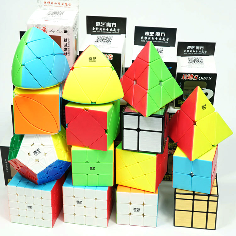 Qiyi Magic Cube Stickerless Speed 3x3x3 2x2x2 4x4x4 5x5x5 Cubo Magico 2x2 3x3 4x4 5x5 6x6 Puzzle Cube Profissional Toy Kid Gifts