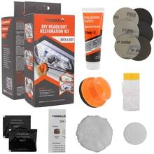 VISBELLA – Kits de réparation de phares de voiture, kit de restauration, oxydation, revêtement de vue arrière, polissage, éclaircissant, rénovation, soin de peinture