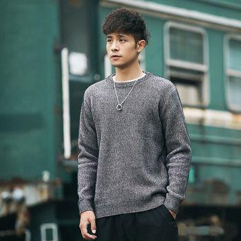 oukaboni japanese retro pullover men 's round neck plus velvet warm chenille men's sweaters tide brand thickening shirt frommer s® japanese phrasefinder