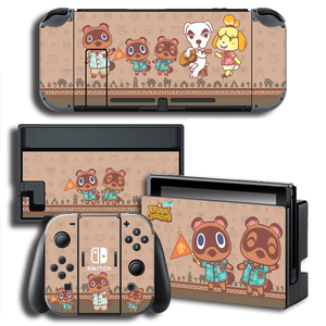 Image 5 - Vinyl Screen Skin Animal Crossing Protector Stickers for Nintendo Switch NS Console + Controller + Stand Holder Skins