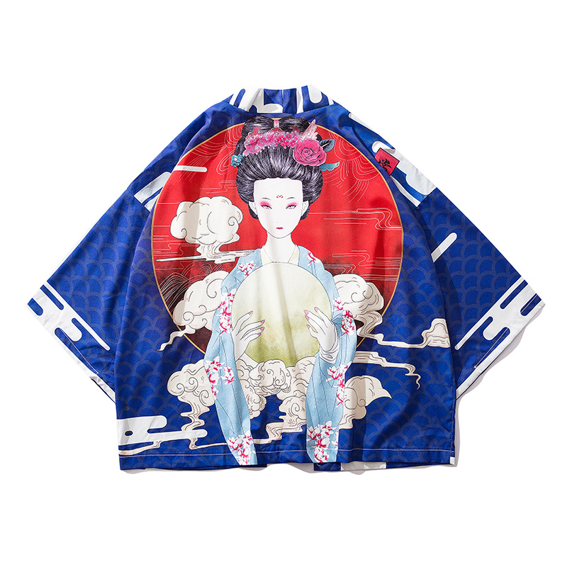Haori 2019 News Summer Men Japanese Style Kimono Cardigan Samurai Costume Kongfu Coat Women Overcoat Traditional Asian Clothes