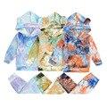 Детская одежда, весенний стиль, золотистый бархатный свитер с длинным рукавом и капюшоном и брюки, комплект одежды для малышей 6-24 мес.