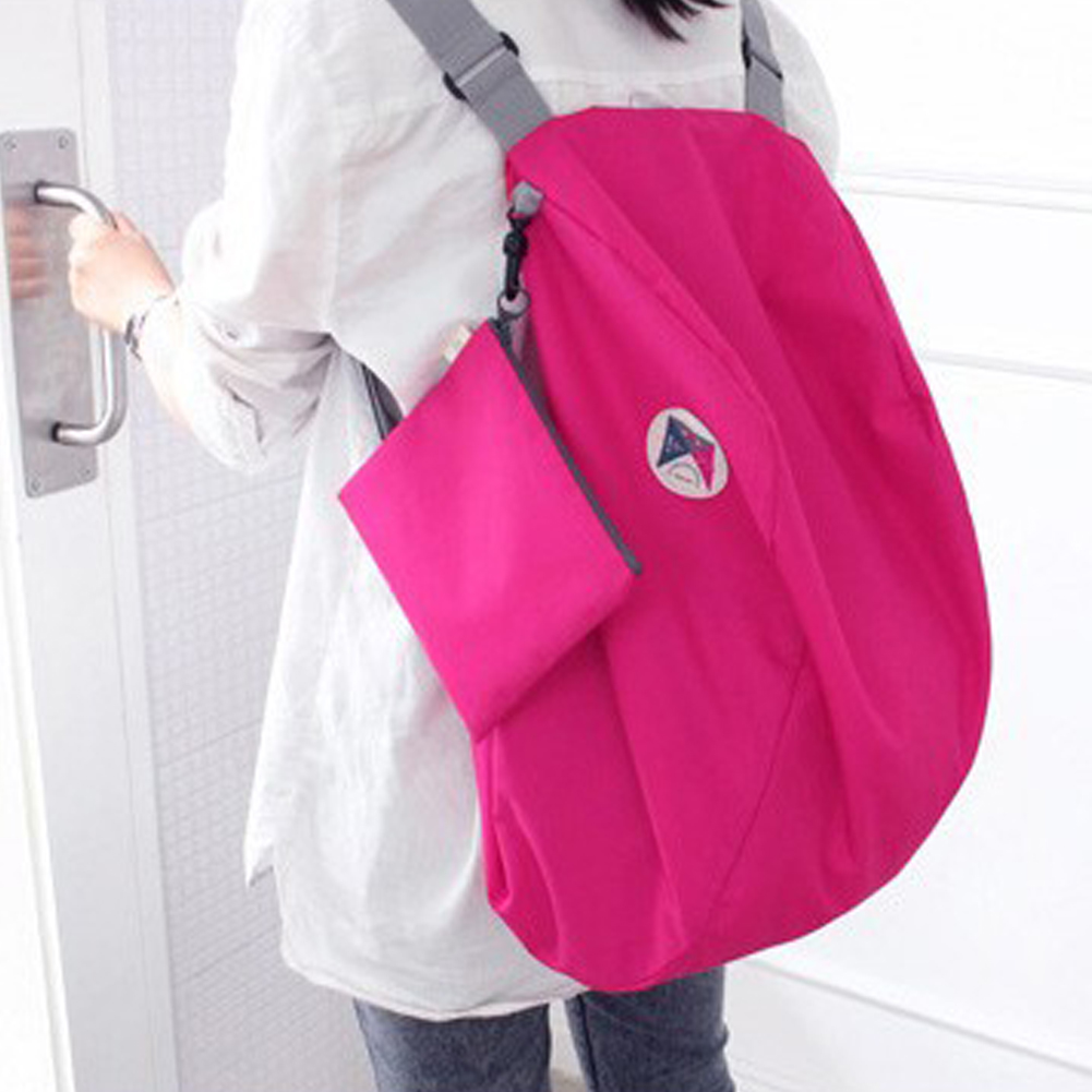 Multi-functional Foldable Backpack Women School Bags For Teenage Girl Unique Design Folding Shoulder Bag Large Capacity Durable