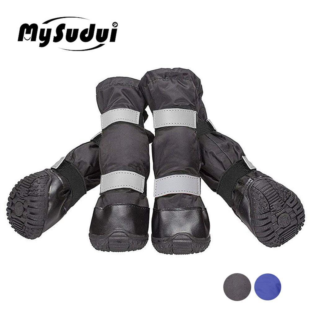 Обувь для собак средних и больших размеров; водонепроницаемые уличные зимние ботинки для собак; теплые длинные Нескользящие непромокаемые ботинки для собак; Zapatos Para Perro|Обувь для собак|   | АлиЭкспресс
